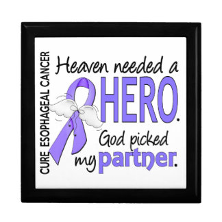 Heaven Needed Hero Esophageal Cancer Partner Trinket Boxes