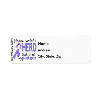 Heaven Needed Hero Esophageal Cancer Partner Label