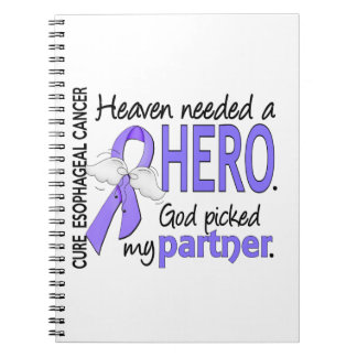 Heaven Needed Hero Esophageal Cancer Partner Spiral Note Books