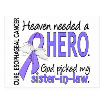 Heaven Needed Hero Esophageal Cancer Sister-In-Law Postcard