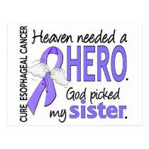 Heaven Needed Hero Esophageal Cancer Sister Postcard
