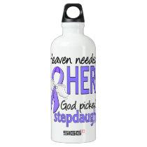 Heaven Needed Hero Esophageal Cancer Stepdaughter Aluminum Water Bottle