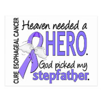 Heaven Needed Hero Esophageal Cancer Stepfather Postcard