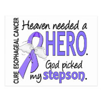 Heaven Needed Hero Esophageal Cancer Stepson Postcard