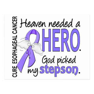 Heaven Needed Hero Esophageal Cancer Stepson Postcard