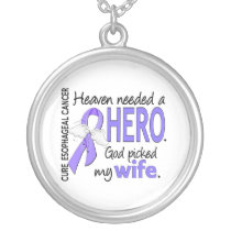 Heaven Needed Hero Esophageal Cancer Wife Silver Plated Necklace