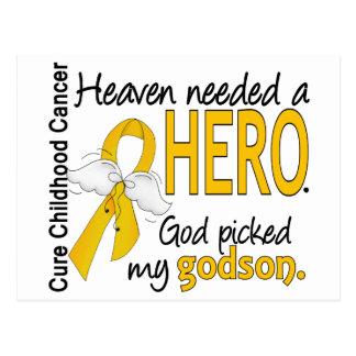 Heaven Needed Hero Godson Childhood Cancer Postcard