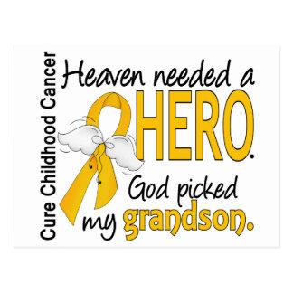 Heaven Needed Hero Grandson Childhood Cancer Postcard