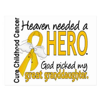 Heaven Needed Hero Great Granddaughter Childhood C Postcard
