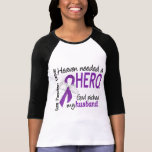 Heaven Needed Hero Husband Pancreatic Cancer Tee Shirt