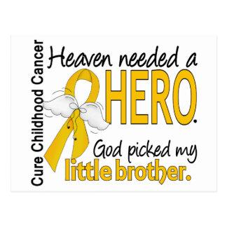 Heaven Needed Hero Little Brother Childhood Cancer Postcard