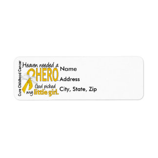 Heaven Needed Hero Little Girl Childhood Cancer Label