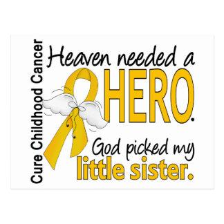 Heaven Needed Hero Little Sister Childhood Cancer Postcard