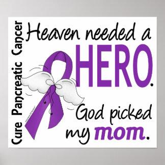 Heaven Needed Hero Mom Pancreatic Cancer Print