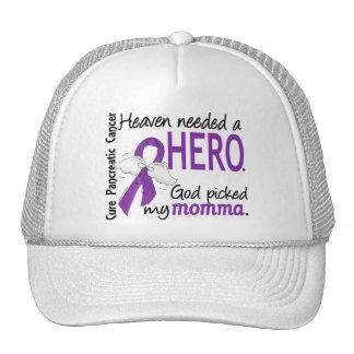 Heaven Needed Hero Momma Pancreatic Cancer Mesh Hats