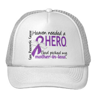 Heaven Needed Hero Mother-In-Law Pancreatic Cancer Mesh Hat