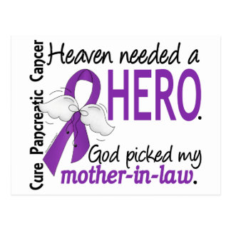 Heaven Needed Hero Mother-In-Law Pancreatic Cancer Postcard