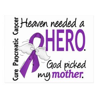 Heaven Needed Hero Mother Pancreatic Cancer Postcard
