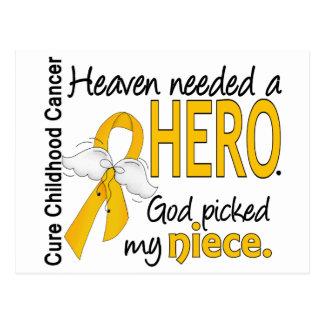 Heaven Needed Hero Niece Childhood Cancer Postcard