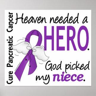 Heaven Needed Hero Niece Pancreatic Cancer Print