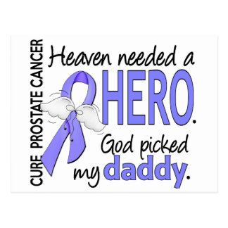 Heaven Needed Hero Prostate Cancer Daddy Postcard