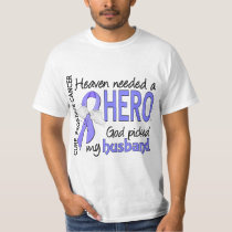 Heaven Needed Hero Prostate Cancer Husband T-Shirt