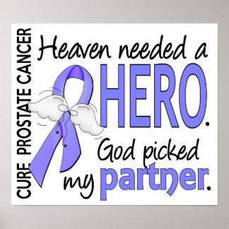Heaven Needed Hero Prostate Cancer Partner Poster