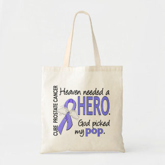 Heaven Needed Hero Prostate Cancer Pop Tote Bag
