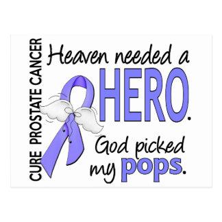 Heaven Needed Hero Prostate Cancer Pops Postcard