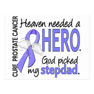Heaven Needed Hero Prostate Cancer Stepdad Postcard