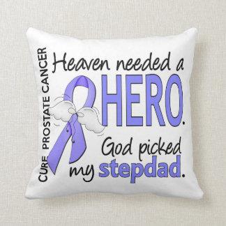 Heaven Needed Hero Prostate Cancer Stepdad Throw Pillow