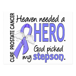Heaven Needed Hero Prostate Cancer Stepson Postcard