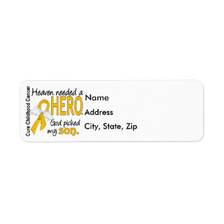 Heaven Needed Hero Son Childhood Cancer Label