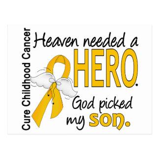 Heaven Needed Hero Son Childhood Cancer Postcard