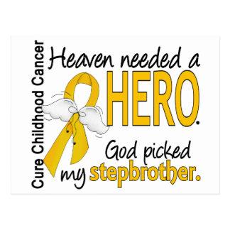 Heaven Needed Hero Stepbrother Childhood Cancer Postcard