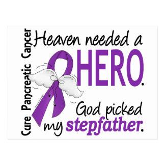 Heaven Needed Hero Stepfather Pancreatic Cancer Postcard