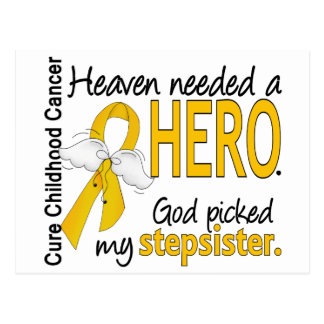 Heaven Needed Hero Stepsister Childhood Cancer Postcard