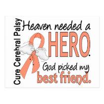 Heaven Needed Hero Uterine Cancer Best Friend Postcard