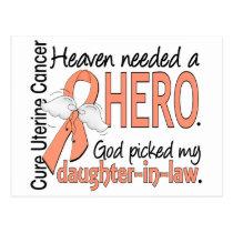 Heaven Needed Hero Uterine Cancer Daughter-In-Law Postcard