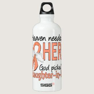 Heaven Needed Hero Uterine Cancer Daughter-In-Law Water Bottle