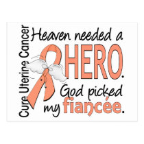 Heaven Needed Hero Uterine Cancer Fiancee Postcard