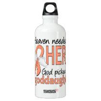 Heaven Needed Hero Uterine Cancer Goddaughter Water Bottle