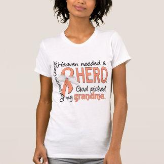 Heaven Needed Hero Uterine Cancer Grandma T-Shirt