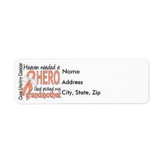 Heaven Needed Hero Uterine Cancer Grandmother Label