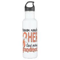 Heaven Needed Hero Uterine Cancer Grandmother Water Bottle