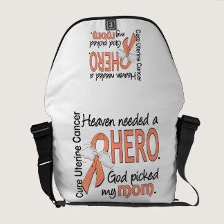 Heaven Needed Hero Uterine Cancer Mom Messenger Bag
