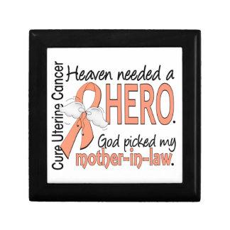 Heaven Needed Hero Uterine Cancer Mother-In-Law Trinket Box