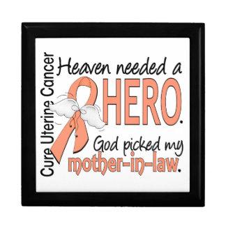 Heaven Needed Hero Uterine Cancer Mother-In-Law Keepsake Box