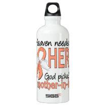Heaven Needed Hero Uterine Cancer Mother-In-Law Water Bottle