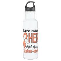 Heaven Needed Hero Uterine Cancer Sister-In-Law Water Bottle